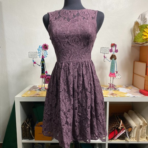 Altar'd State Dresses & Skirts - Altar'd State Purple Lace Kilkenny Dress